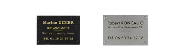 gravure plaque Voiron plaque professionnelle