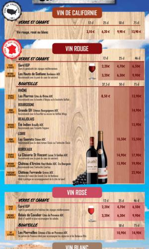 impression cartes des vins à grenoble et voiron