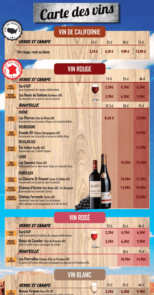 Buffalo Grill Carte Pdf.Carte Menu Restaurant Set De Table Voiron Mill Et Une