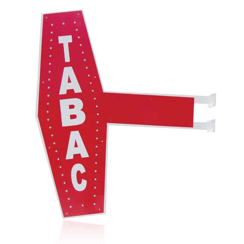 Enseigne lumineuse drapeau grenoble voiron - Enseigne tabac carotte ...