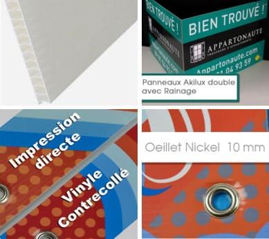 Impression et réalistion panneau akilus Grenoble Voiron